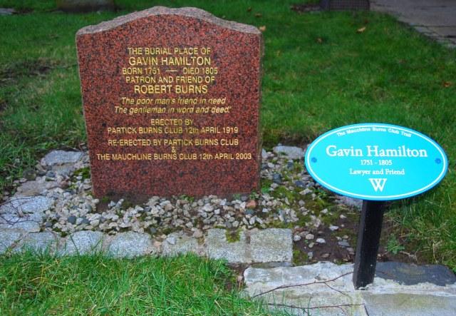 Gavin Hamilton's resting place