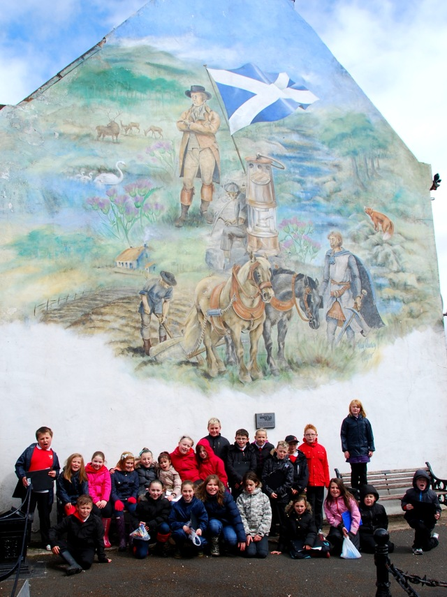 Primary 6 at the New Cumnock Mural