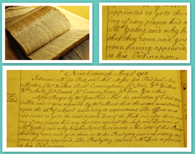 Reverend James Young ordination record
