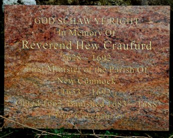 Rev. Hew Craufurd - First Minister of New Cumnock