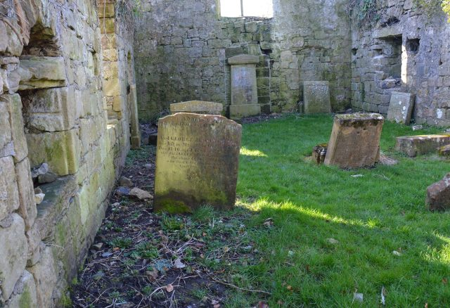 Headstones within the Auld Kirk walls