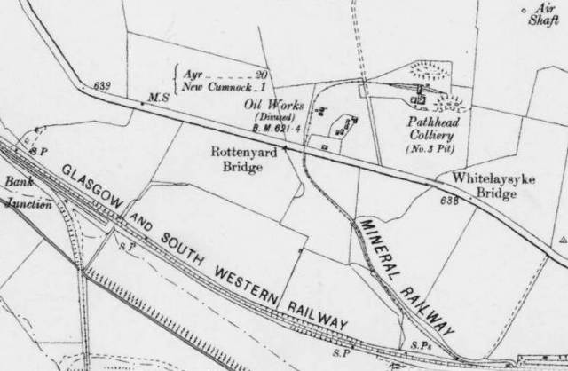 Pathhead Colliery and Oil Works (Courtesy National Library of Scotland)