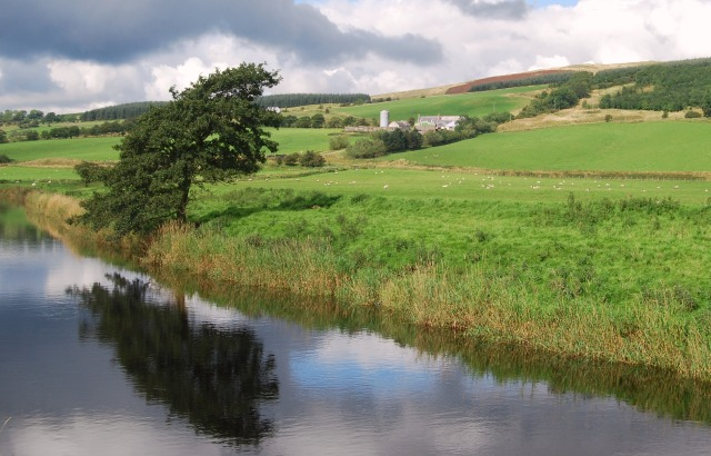 Merkland Farm and River Nith, New Cumnock