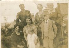 Papa, Nana + Granny; Nellie, Aunt Jessie, Ian & Craigie